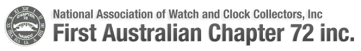 NAWCC First Australian Chapter 72 inc Logo